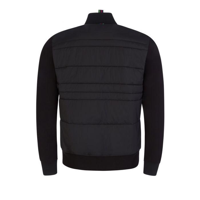 PS Paul Smith Mixed Media Bomber Jacket Black