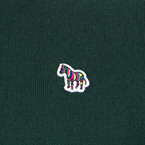 PS Paul Smith Zebra Logo Pullover Zip Neck