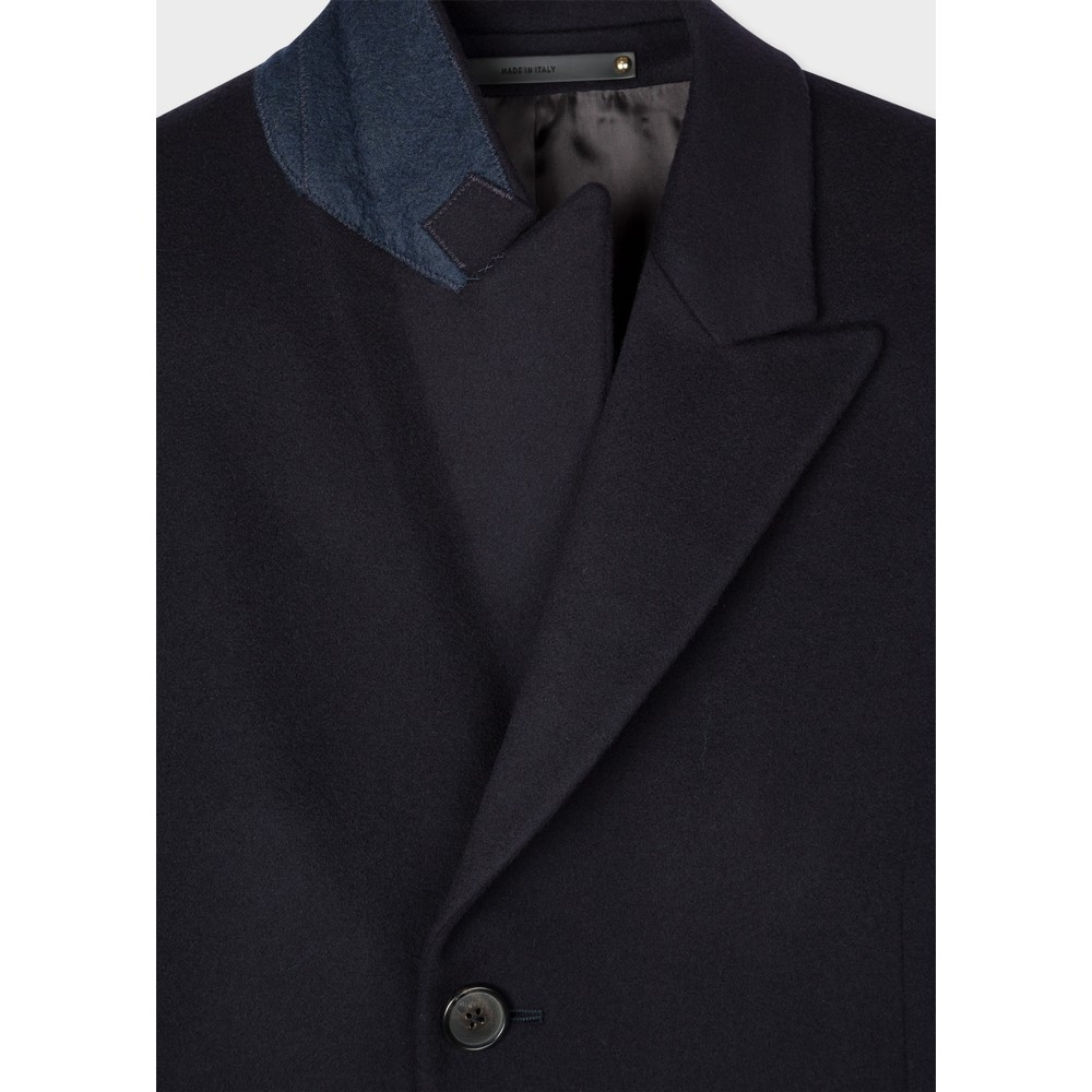 Paul Smith Gents SB Overcoat Navy
