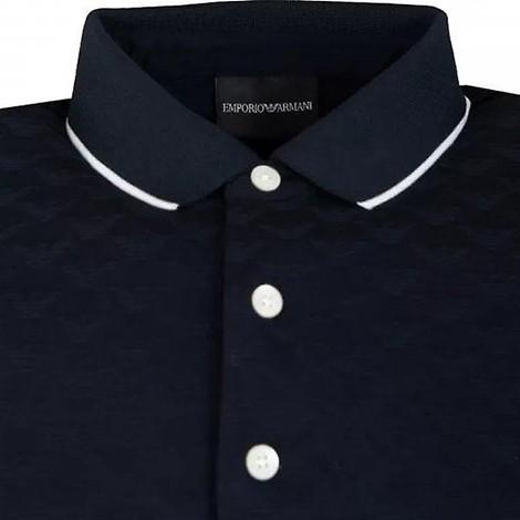 Emporio Armani White Trim Collar Polo