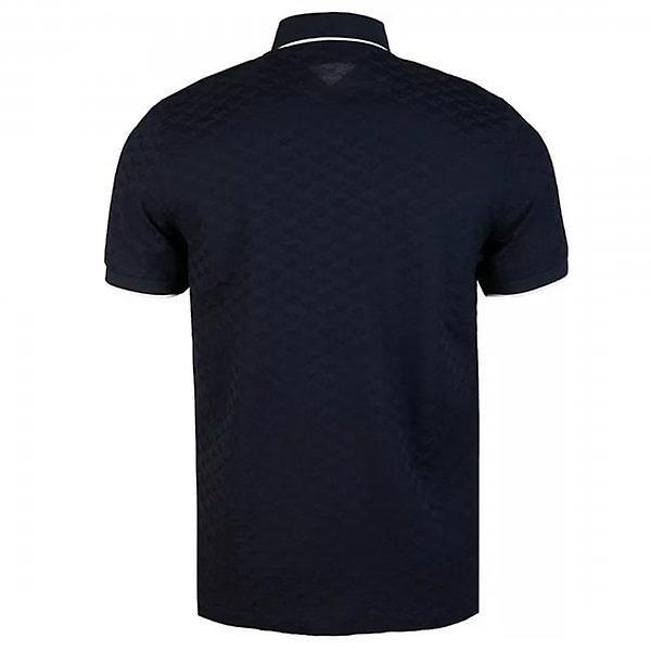 Emporio Armani White Trim Collar Polo Navy