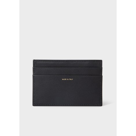 Paul Smith Leather Credit Card Holder With Signature Stripe Trim
