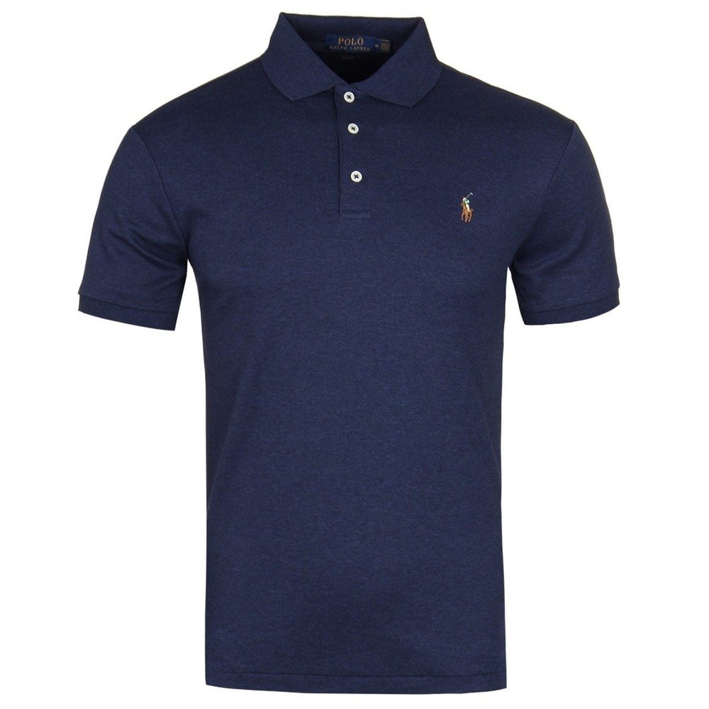 Ralph Lauren Menswear Short Sleeve Pima Polo Blue