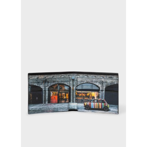 Paul Smith Leather 'Mini Kings Cross' Print Interior Billfold Wallet