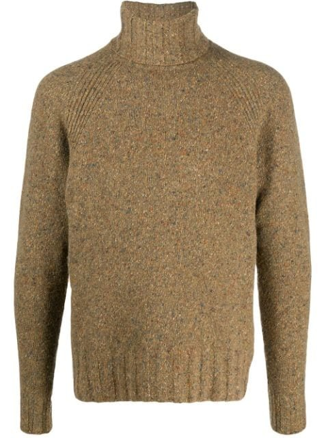 PS Paul Smith Flecked Pullover Roll Neck Beige