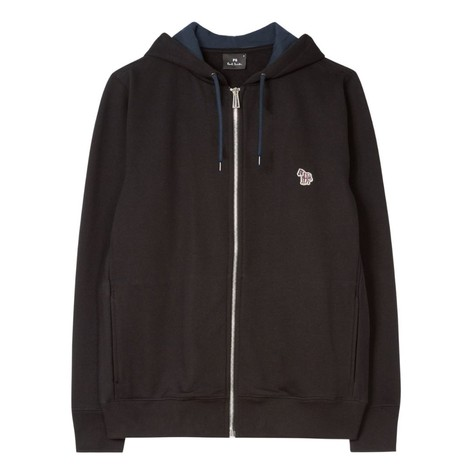 PS Paul Smith Organic-Cotton Zip-Up Zebra Logo Hoodie