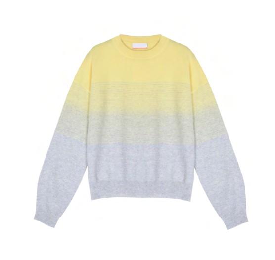 Cocoa Cashmere Ashley Dip Dye Cashmere Jumper Grey