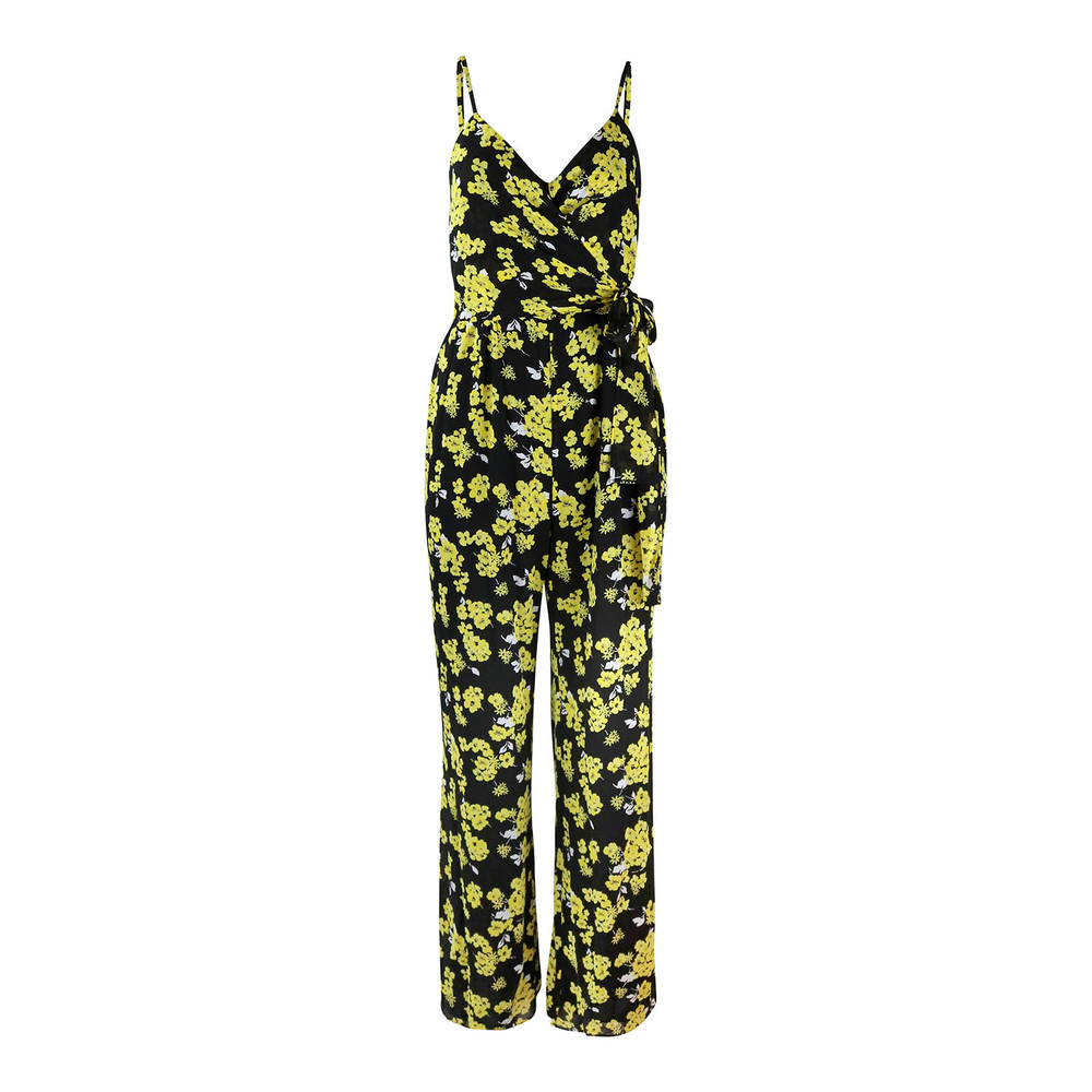 Michael Kors Flower Jumpsuit Black and Yellow