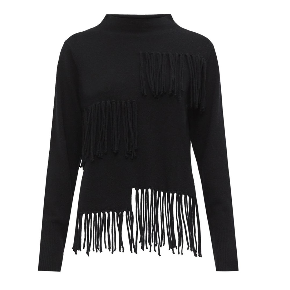 Marella Pasqua Fringed Jumper Black