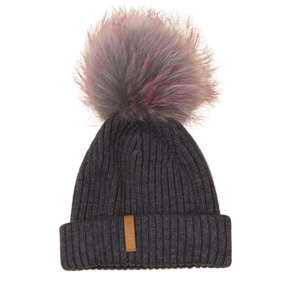 BKLYN Pom Pom Hat Charcoal