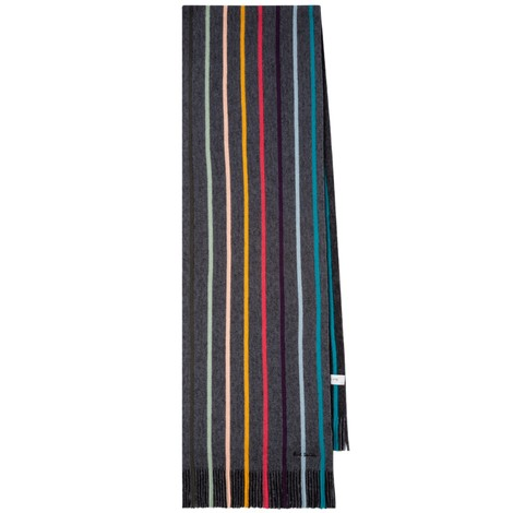 Paul Smith Twisted 'Artist Stripe' Wool Scarf