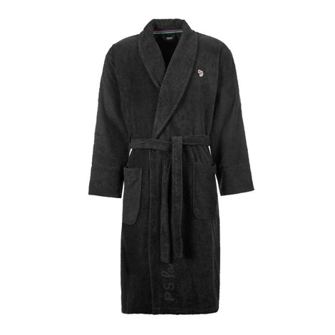 Paul Smith Zebra Logo Cotton Bathrobe