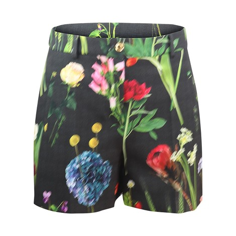 Moschino Boutique Botanic Flower Printed Cady Shorts