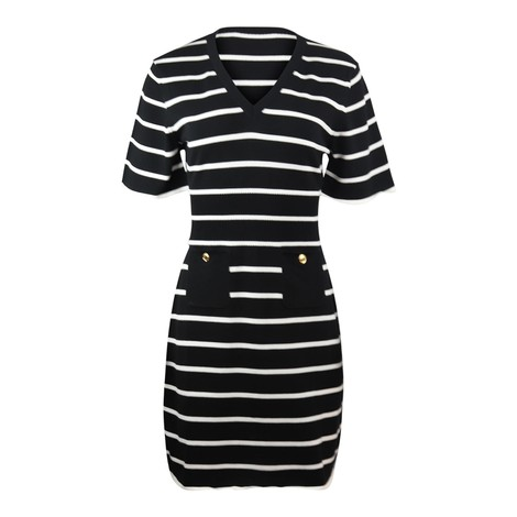 Moschino Boutique Striped Knitted Dress