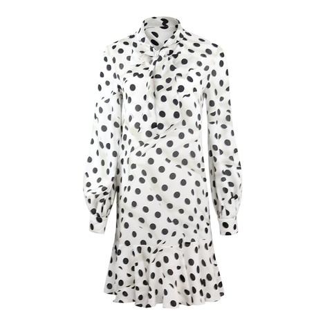 Moschino Boutique Polka Dot Print Silk Dress