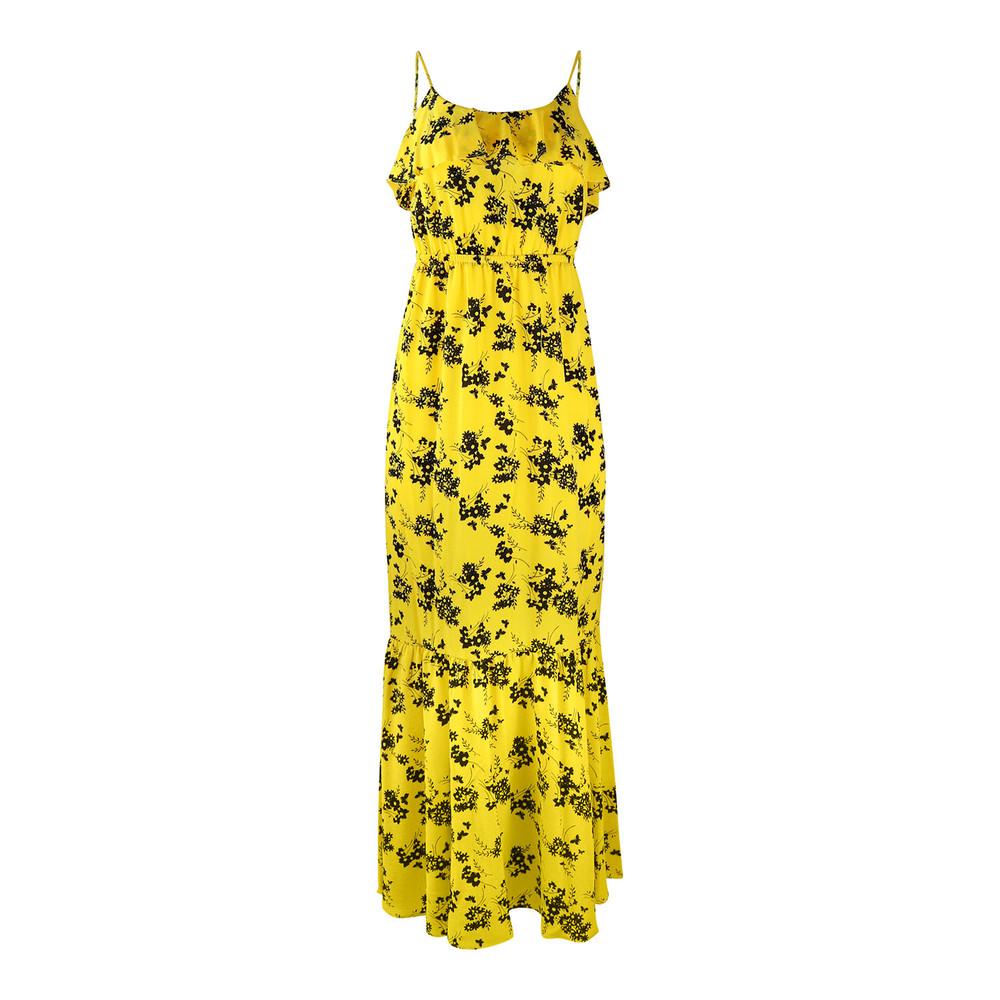 Michael Kors Botanical Maxi Dress Yellow