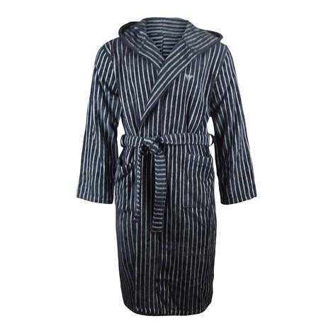 Emporio Armani Hooded Striped Bathrobe