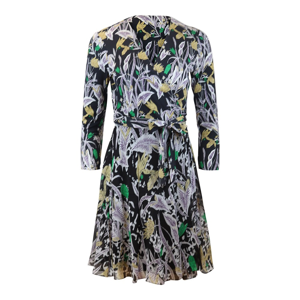DVF Irina Bali Flower Dress Black