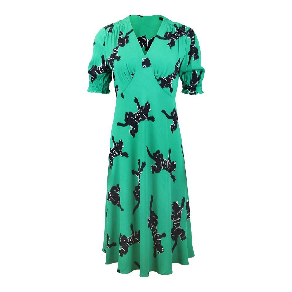 DVF Jemma Dress - Climbing Jag Green