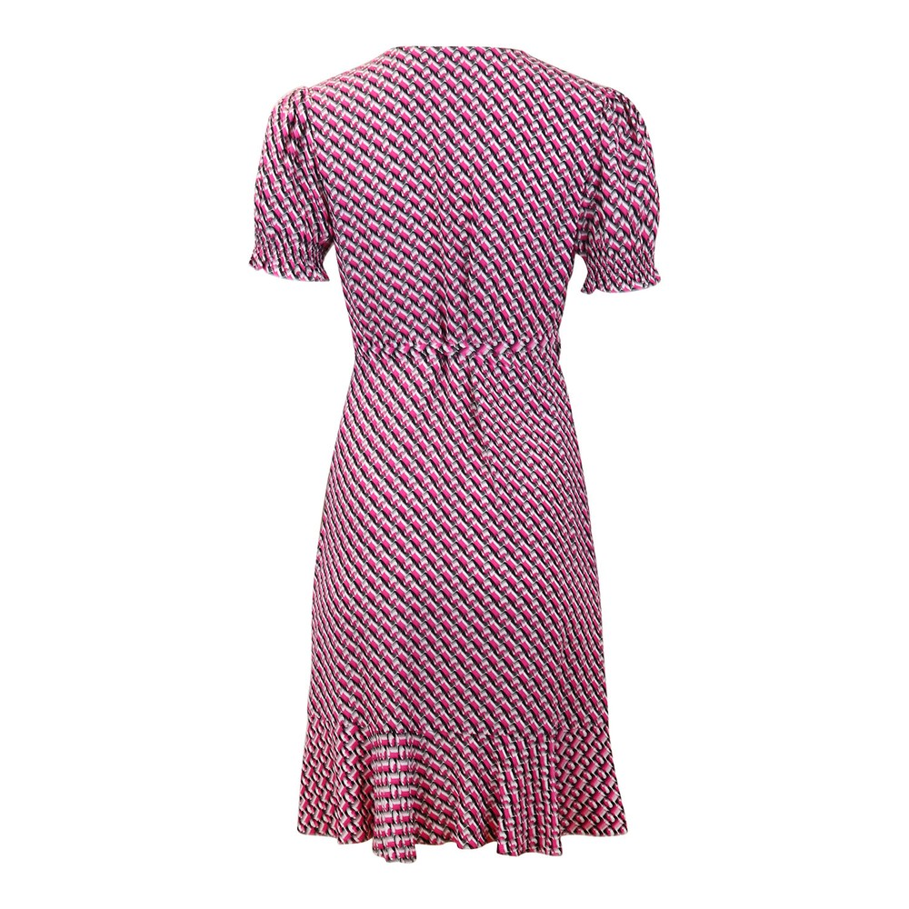 DVF Emilia Mini Dress 3D Small Chain Pink