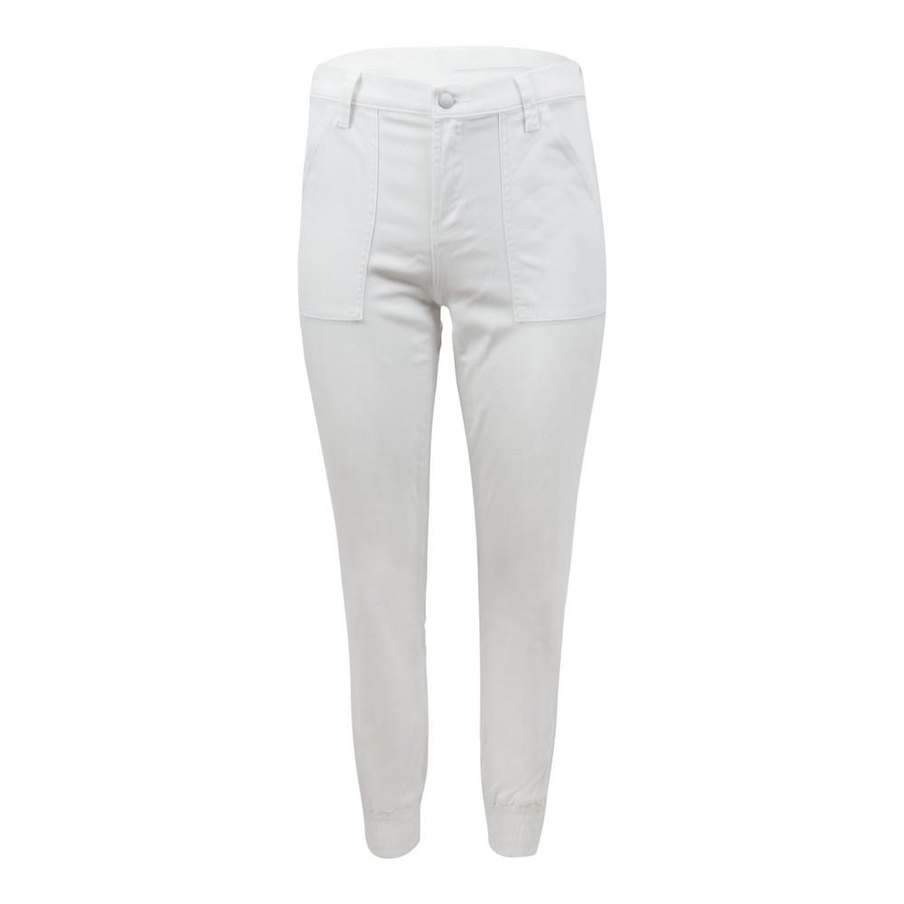 J Brand Arkin Zip Crop Ankle Jogger White