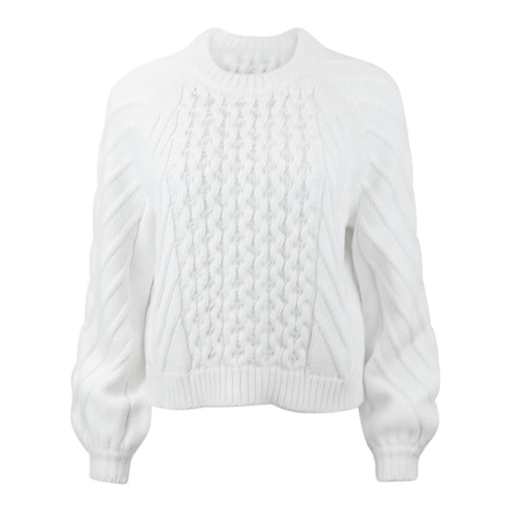 J Brand Zuri Fisherman Sweater Cream