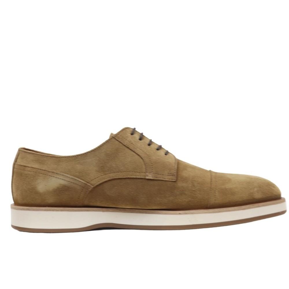 Hugo Boss Oracle Suede Derby Shoes Beige