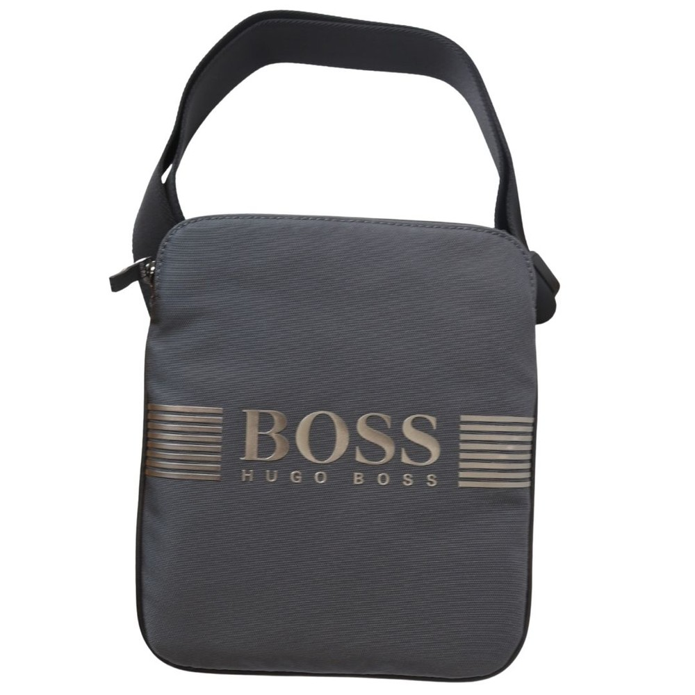 Hugo Boss Pixel ML_S zip env Bag Dark Grey