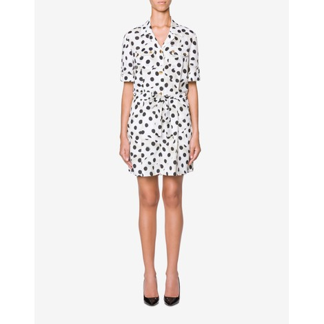 Moschino Boutique Polka Dot Silk Playsuit