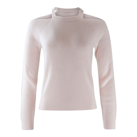 J Brand Cold Shoulder Cashmere Jumper
