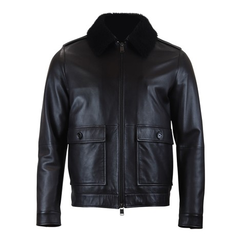 Hugo Boss Graven Leather Jacket