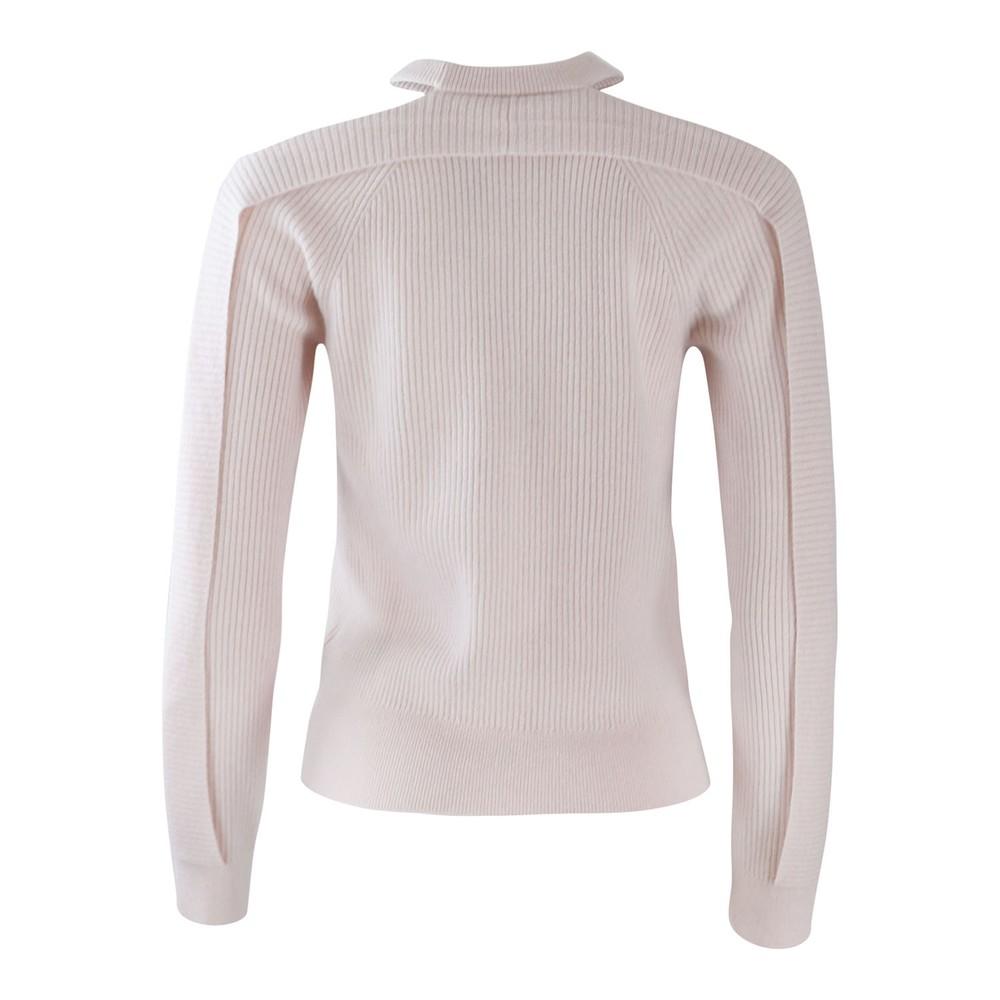J Brand Cold Shoulder Cashmere Jumper Pink