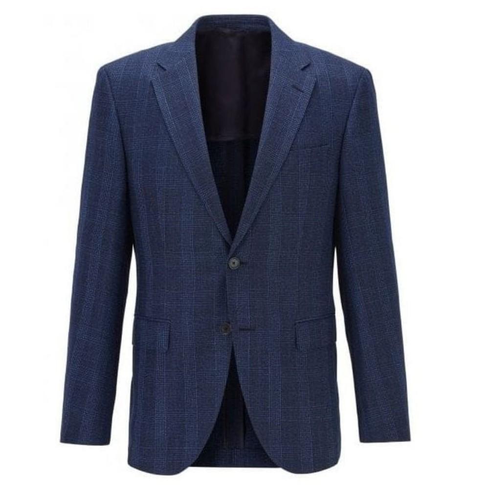 Hugo Boss Jestor4 Suede Elbow Patch Jacket Dark Blue