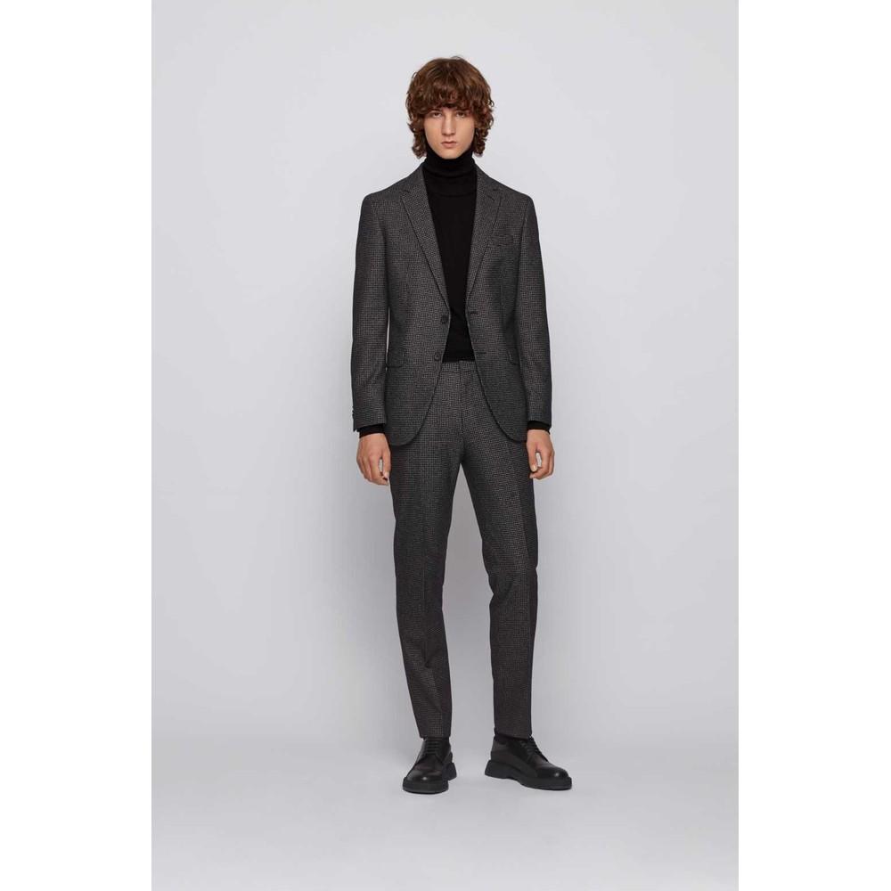 Hugo Boss Two-Piece Patterned Suit Black