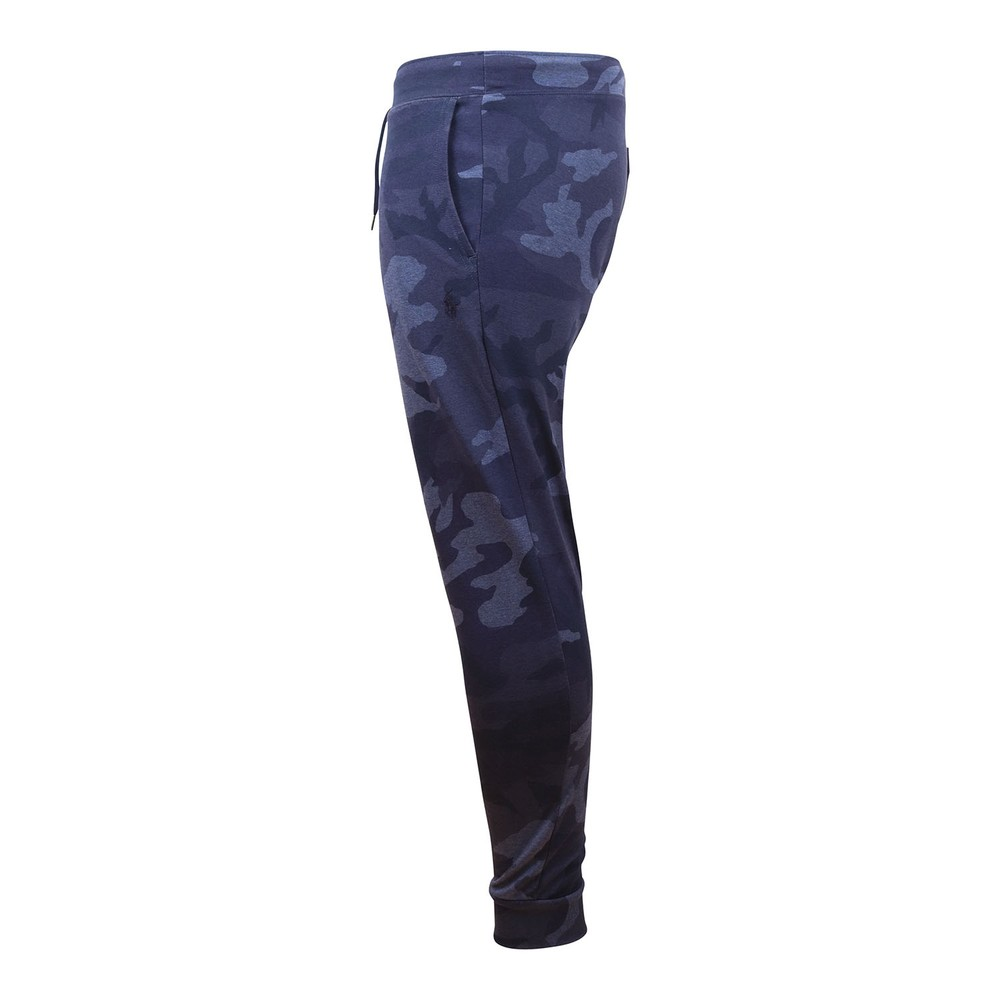 Ralph Lauren Menswear Camo Double Tech Knit Sweatpant Blue Pattern