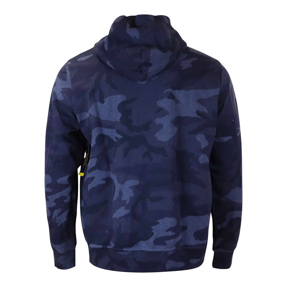Ralph Lauren Menswear Camo Double Tech Knit Hoodie Blue