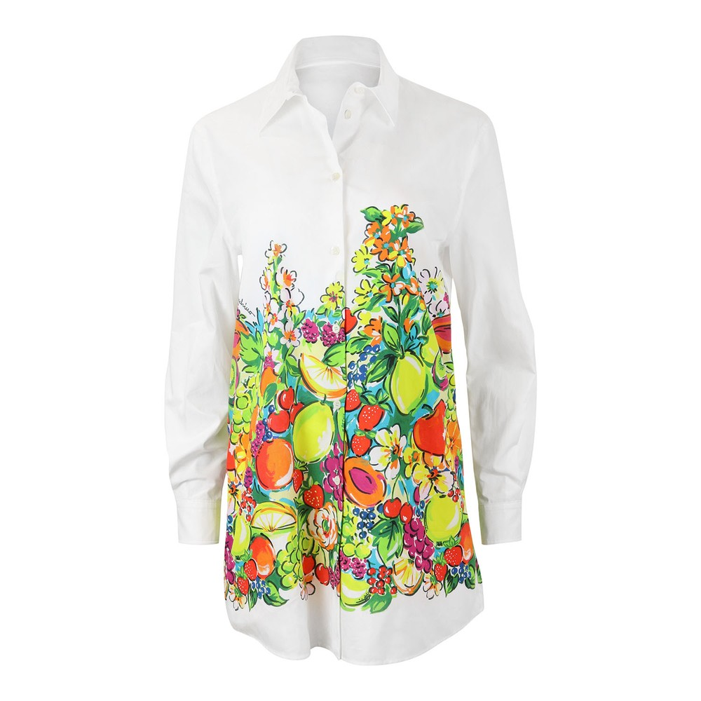 Moschino Boutique Fruit Pattern Shirt White