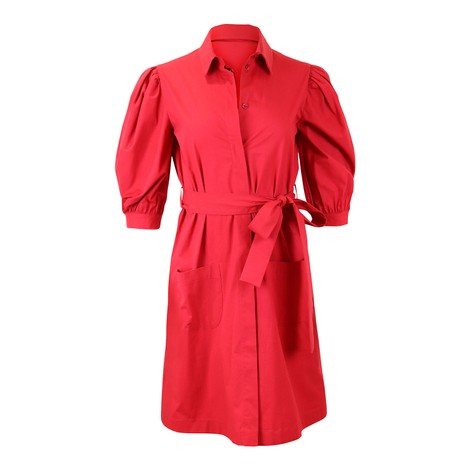 Moschino Boutique Puff Sleeve Shirt Dress
