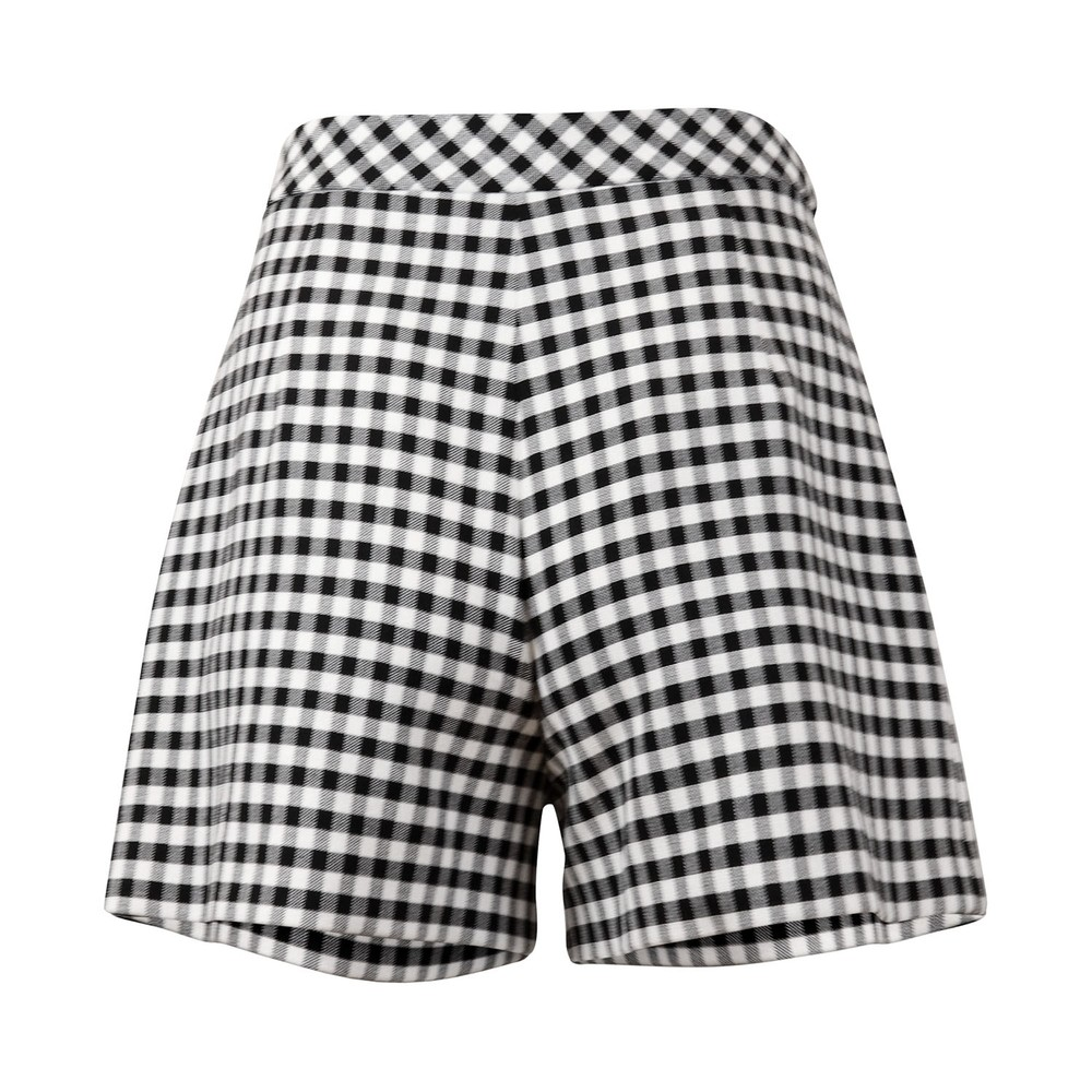 Moschino Boutique Gingham Shorts Black & White