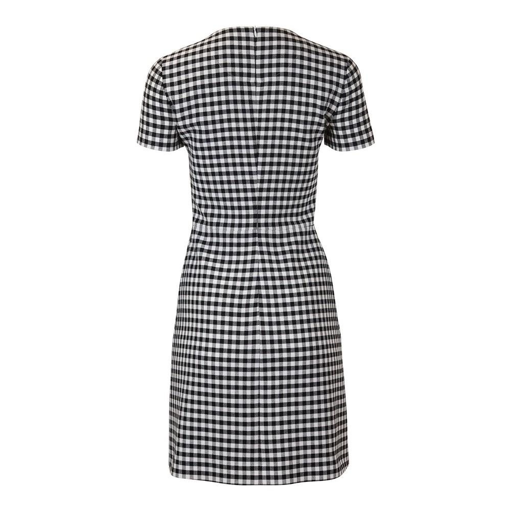 Moschino Boutique Short Sleeve Gingham Dress Black & White