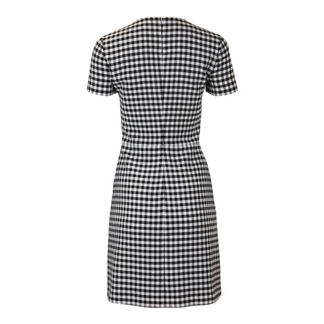 Moschino Boutique Short Sleeve Gingham Dress