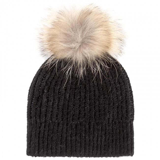 Marella Sparkle Pom Pom Hat Black