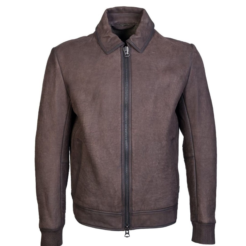 Hugo Boss Jacelon Suede Jacket Brown