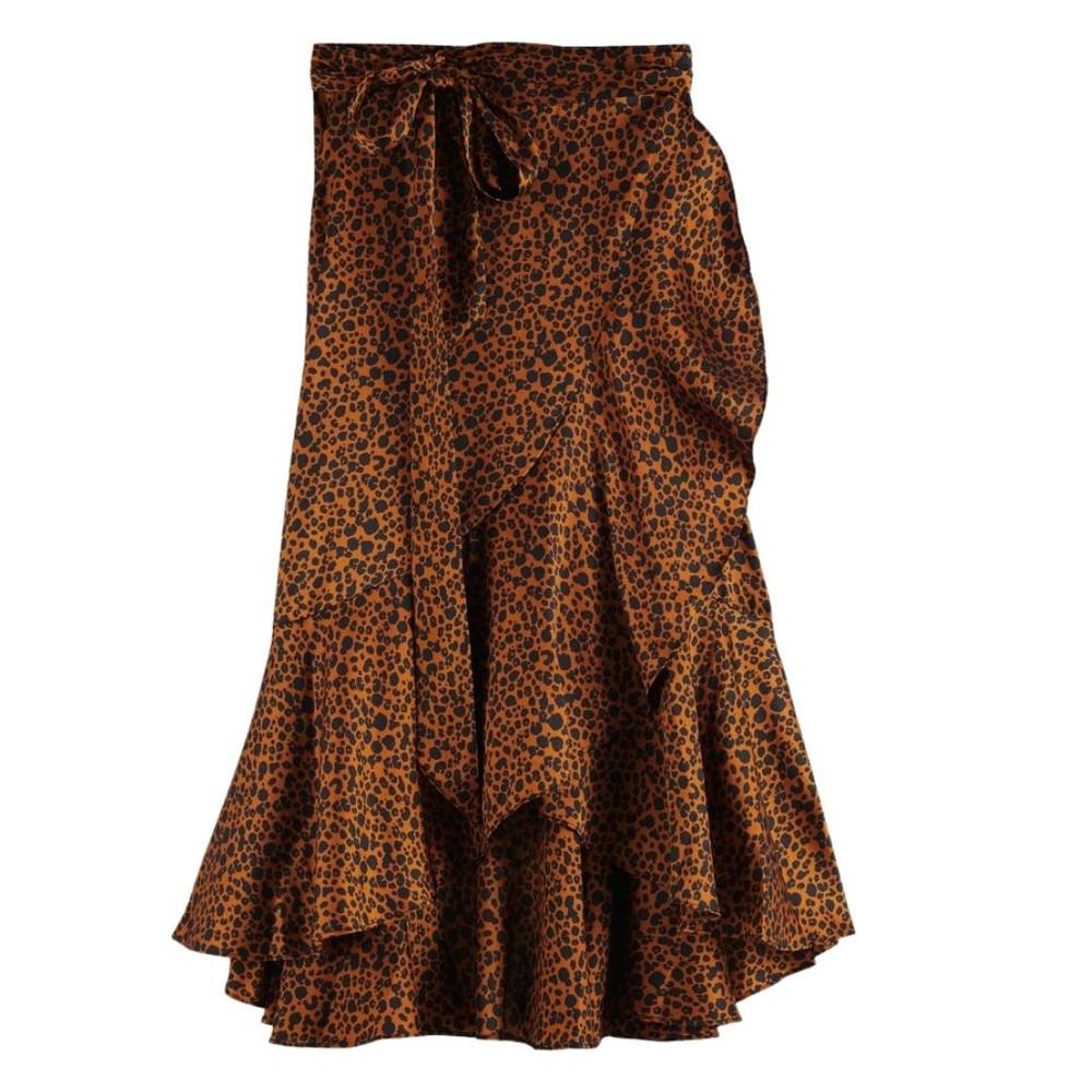 Scotch & Soda Mini Leopard Wrap Skirt Animal Print