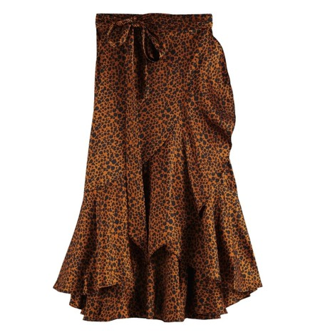 Scotch & Soda Mini Leopard Wrap Skirt