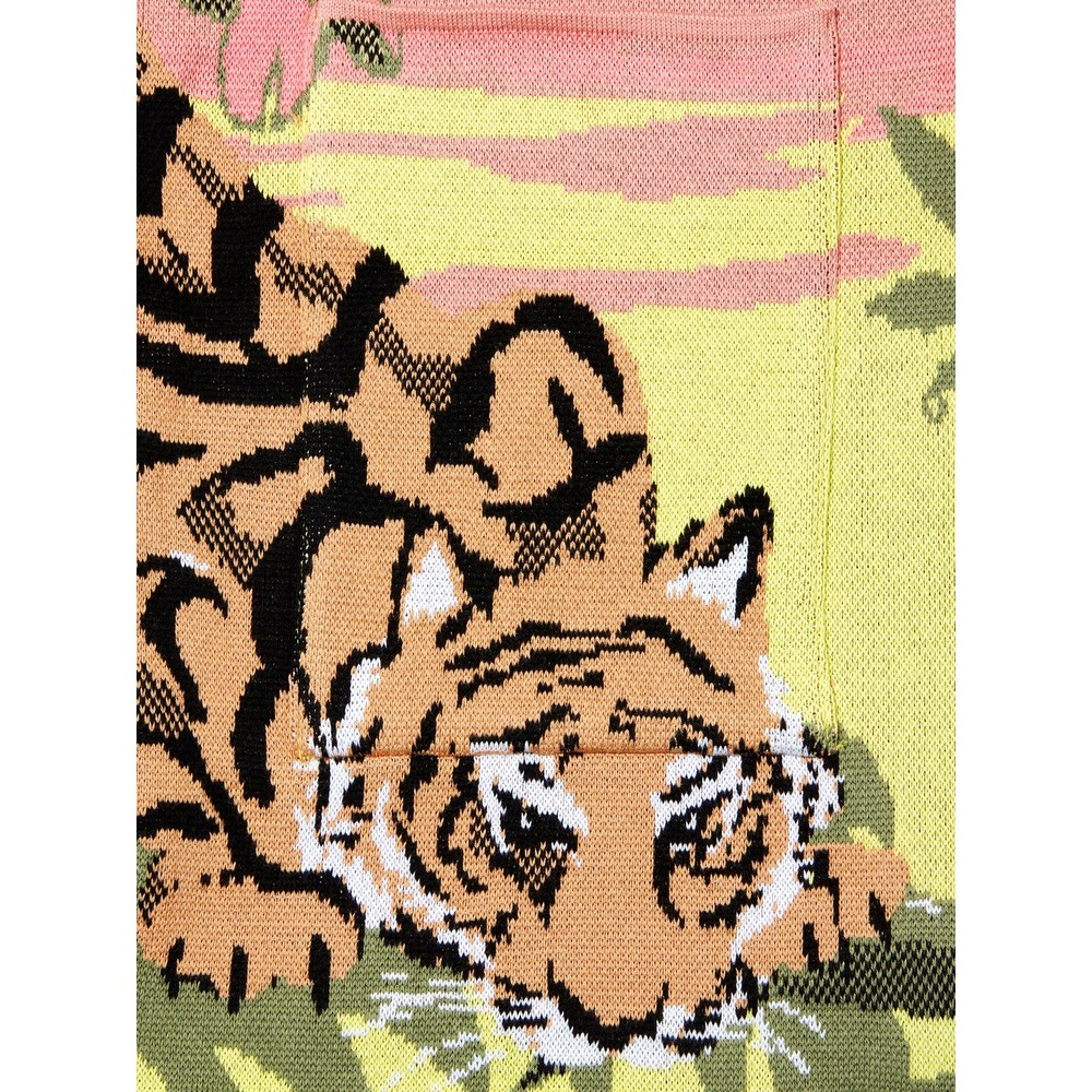 Hayley Menzies Drinking Tiger Jacquard Cardigan Pink
