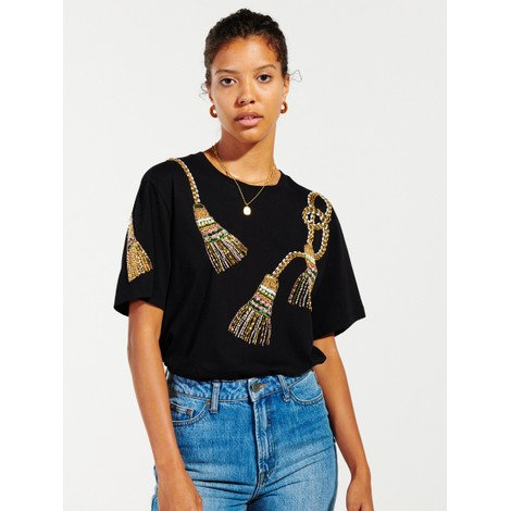 Hayley Menzies  Tassel Beaded T-Shirt