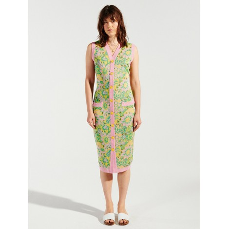 Hayley Menzies Samui Blooms Jacquard Midi Vest Dress