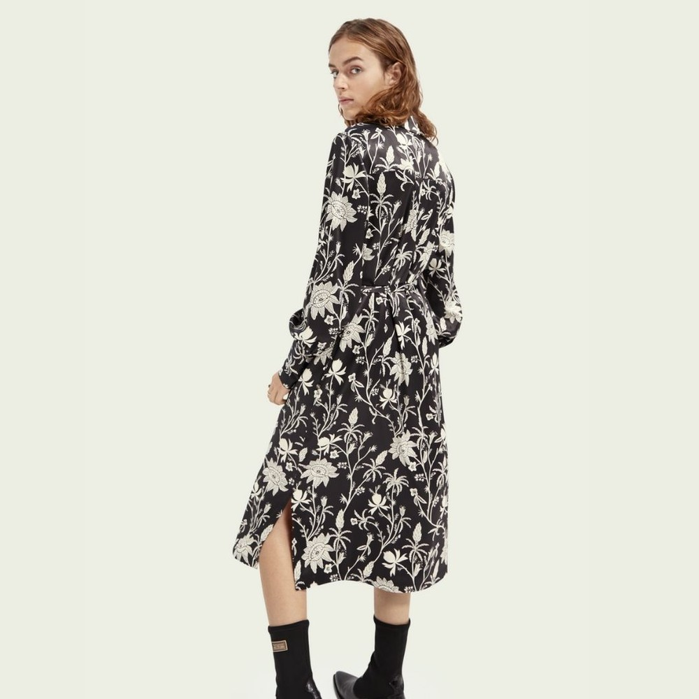 Scotch & Soda Shirt Dress Black & White