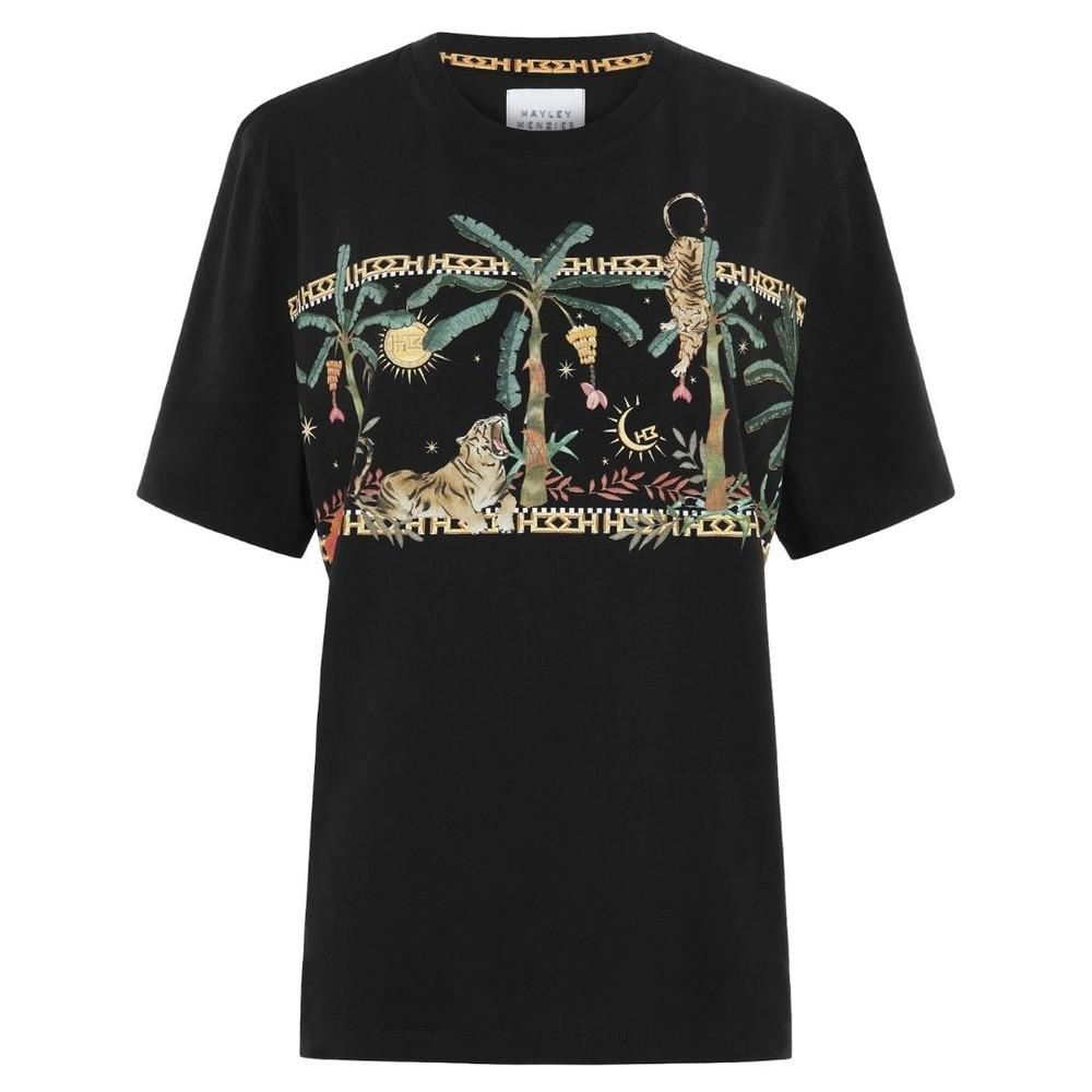 Hayley Menzies Jungle Safari Cotton T-Shirt Black